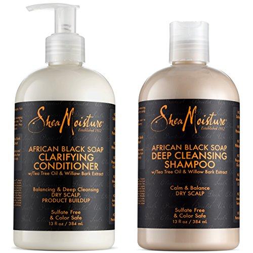 Shea Moisture African Black Soap Shampoo & Conditioner Set by Shea Moisture