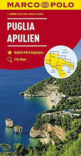 Marco Polo Puglia/Apulië 11: Wegenkaart 1:200 000