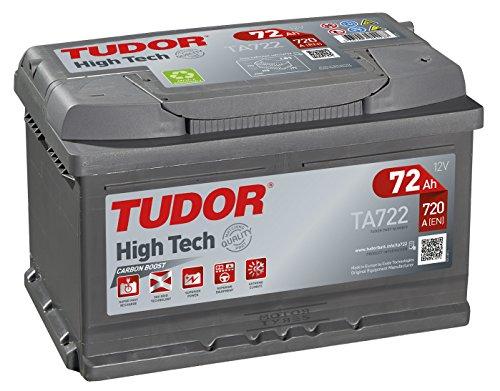 Batería para coche Tudor Exide HIGH-TECH 72Ah, 12V. Dimensiones: 278 x 175 x 175. Borne derecha.