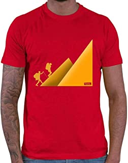 HARIZ Camiseta para hombre, senderismo, montañismo, senderismo, escalada, con tarjetas de regalo