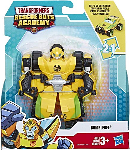 Transformers Rescue Bots Academy Bumblebee Rock Crawler 4.5' Toy Converting Action Figure