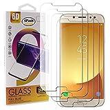 Guran 4 Paquete Cristal Templado Protector de Pantalla para Samsung Galaxy J7 2017 J730 / J7 Pro / J7 DUOS Smartphone 9H Dureza Anti-Ara?azos Alta Definicion Transparente Película