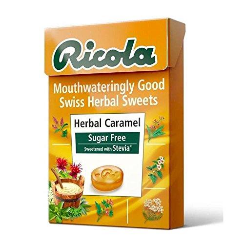 SIX PACKS of Ricola Swiss Herbal Sweets Herbal Caramel Suggar Free 45g