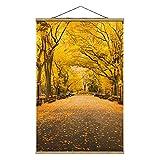 Bilderwelten Imagen de Tela - Autumn In Central Park - 53.5cm x 35cm, Material: Roble