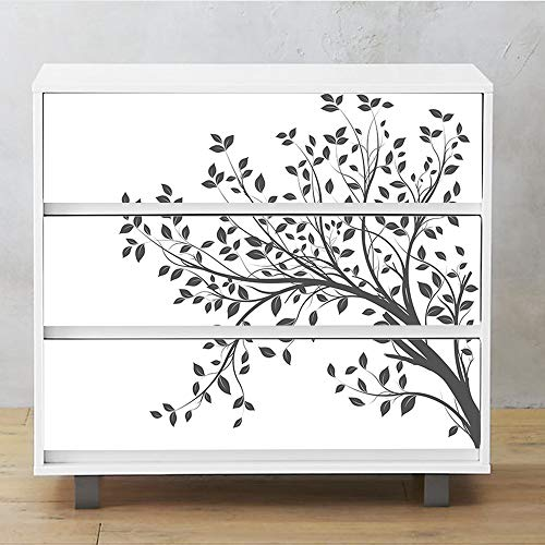 Alwayspon Self-Adhesive Dresser Sticker, Peel and Stick Furniture Stickers/Decals, Removable Furniture Skin (003, MALM)…