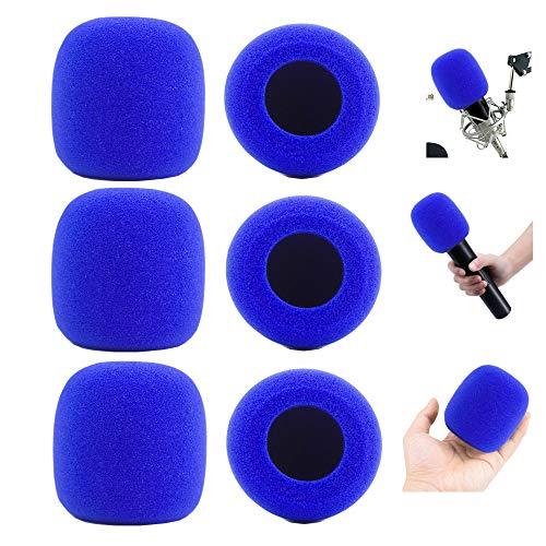 MeetRade - Juego de 6 fundas de espuma para micrófono (azul)
