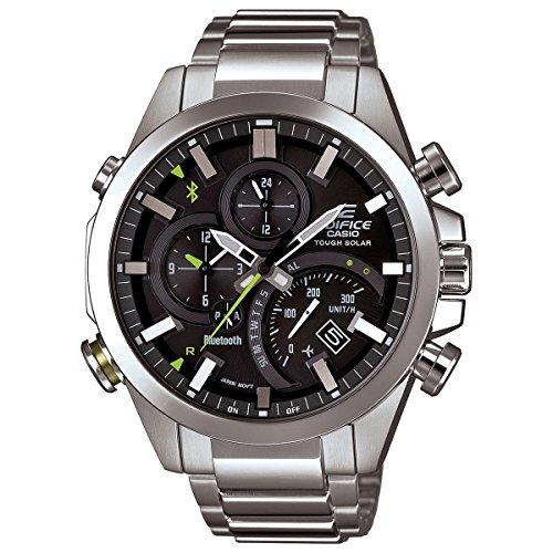 Casio Edifice Reloj de cuarzo para hombre con correa de acero inoxidable, plateado, 20.54 (Modelo: EQB-500D-1ACF)