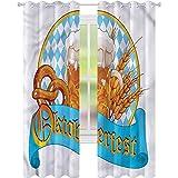 jinguizi Oktoberfest - Cortinas opacas con diseño de cerveza (42 x 72 cm),...