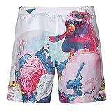 ELECTRI Pantalons Pour Hommes Sport SweatPants Shorts Sarouels Élasticité Elevée Jogging Pantalon D'entraînement Pantalon Short de plage imprimé pour homme (2XL, Multicolor)
