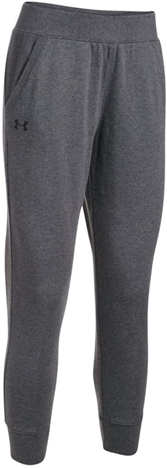 Women's Under Armour French Terry Ankle Crop, Carbon Heather, S-R