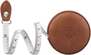 Sewing Tape Measure, Medical Body Cloth Tailor Craft Dieting Measuring Tape, 60 Inch/1.5M Dual Sided Retractable Ruler with Push Button Round(1 Pack, Brown)