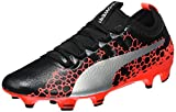 puma evopower vigor 3 graphic fg, chaussures de football homme, noir (black-silver-fiery coral), 42 eu