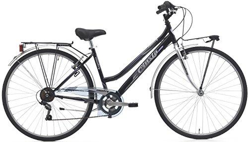 28 Zoll Damen Trekking Fahrrad Cinzia Country 6 Gang, Farbe:schwarz