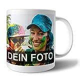 Tasse mit Foto Bedrucken Lassen | Fototasse selbst gestalten mit individuellem Foto und Text | Personalisierte Geschenke I Für Mama, Papa, Oma, Opa, Freundin uvm.