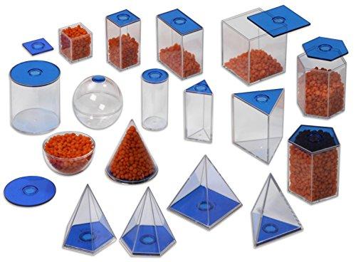 Betzold Geometrie-Körper 17 Füllkörper Plexiglas - Mathematik Kinder Lehrmittel