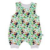 Eve Couture Babykleidung Baby Strampler Sommer kurz Junge Mädchen Hawaii Tropical Rockabilly Flamingo (80/86)