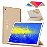 Tablet 10.1Pollici 8-Core Tablet PC Android 9.0 Pie, Google GMS certificato,4GB RAM 64/256GB ROM, FHD 8000mAh Dual 4G LTE Call Sim Con WIFI Tablets Support Gaming Type-C Netflix/APK/Bluetooth/GPS-Oro
