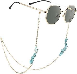 Bohend Boho Turquoise Chaîne de lunettes de soleil Or bohémien Chaîne de lunettes Femmes Accessoires pour lunettes Pour Lu...