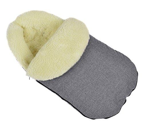 Baby Fußsack WinterFußsack für Kinderwagen wolle Len mit Kaputze [071]