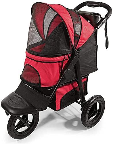 Cochecito liviano para bebé Portátilee el cochecito de la mascota o el carro de perros, carrito de mascotas plegable ligero con cesta de almacenamiento y titular de la copa, ideal para viajar o noches