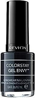 Revlon Colorstay Gel Envy Long Wear Nail Enamel, Black Blackjack, 11.7ml