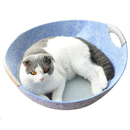 huisdier hond kat bed kat klimmen frame kat nest zomer kat bed deken nest kat pot type vier seizoenen universele huisdier benodigdheden, Blauw