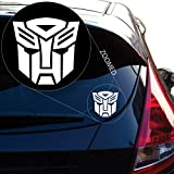 Yoonek Graphics Autobot Inspired Transformer Decal Sticker for Car Window, Laptop and More. # 544 (4' x 4', White)