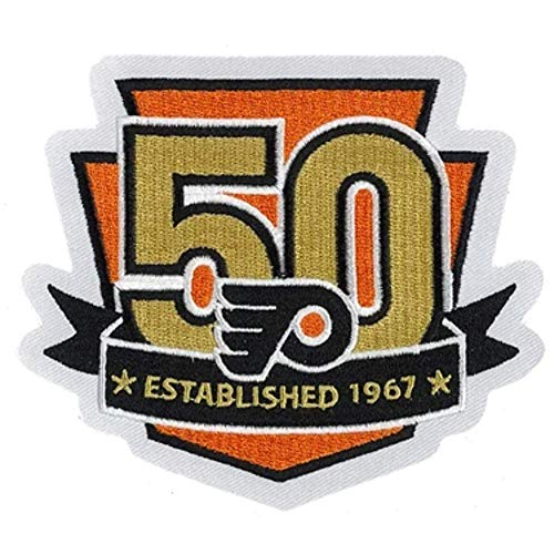 2017 NHL Philadelphia Flyers 50th Anniversary Patch Game Jersey Embroidered