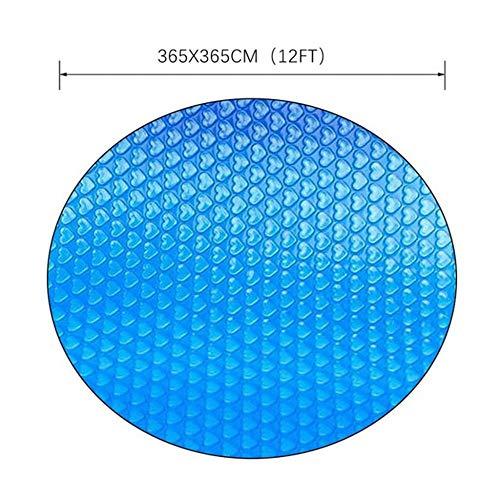 Zakjj 366x366cm Solarplane Rundpool Pool Solarplane, Einfach Zu Montierende Runde Blaue Pool-Schutzabdeckung Mit Sonne Das Poolwasser Erwärmen