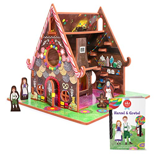 Hansel and Gretel Toy House and Storybook Playset