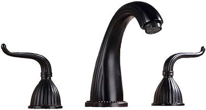Kraan wastafel kraan 2 handvatten Wash Basin Kraan en de slang 2 Kleuren Keuken Badkamer kraan (Kleur: Messing, Afmetinge...