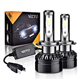 WZTO H7 LED Phare Ampoules Voiture, 10000LM Feux Avants Auto Ampoule LED,Auto Kit de...