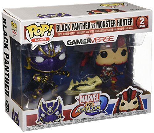 Marvel Pack Pop Vs Capcom: Infinite - 2 Figuras Black Panther Vs Monster Hunter