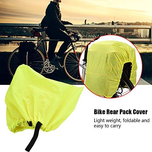 Tbest Asiento Trasero de Bicicleta a Prueba de Agua Llevar Mochila Cubierta de Lluvia de Polvo para Senderismo Ciclismo(02)