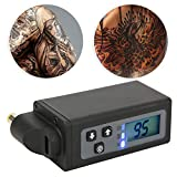 Tattoo Batterie, 2000mAh machine tatouage power supply mini adaptateur CC de batterie externe sans fil, portable machine a tatouer kit tatouage d'affichage à LED pour machine de stylo de tatouage