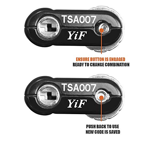 TSA Approved Luggage Travel Lock, Set-Your-Own Combination Lock for School Gym Locker,Luggage Suitcase Baggage Locks,Filing Cabinets,Toolbox,Case (Black, 2 Pack)