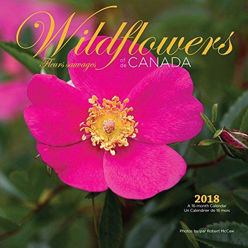2018de Canadá de flores silvestres calendario de pared