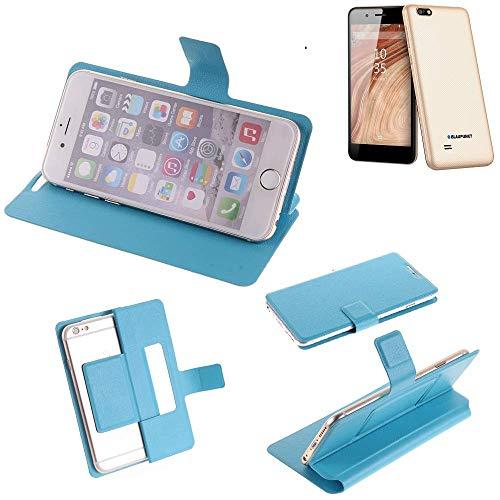 K-S-Trade® Flipcover Für Blaupunkt SL 04 Schutz Hülle Schutzhülle Flip Cover Handy Case Smartphone Handyhülle Blau