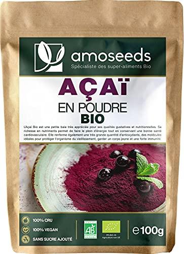 Açaï en Poudre Bio 100G | Lyophilisée, Freeze-dried | Antioxydant, Vitalité | Qualité Supérieure