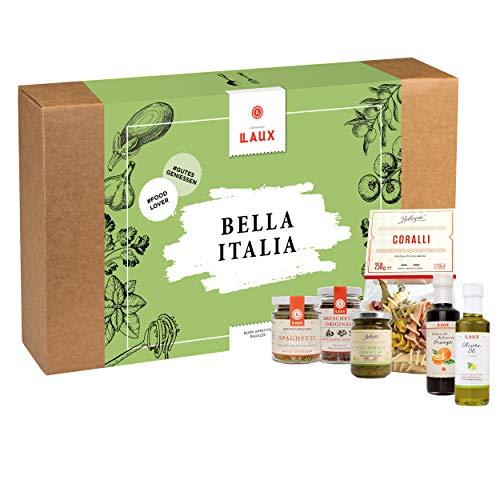 LAUX® Bella Italia Geschenkset – 6 x Italienische Feinkost - Mit Hochwertiger Geschenkbox - Ideales Geschenk