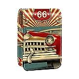 qfkj Caja de Almacenamiento de lápiz Labial Caja de Embalaje,Saludo turístico Vintage con Coche