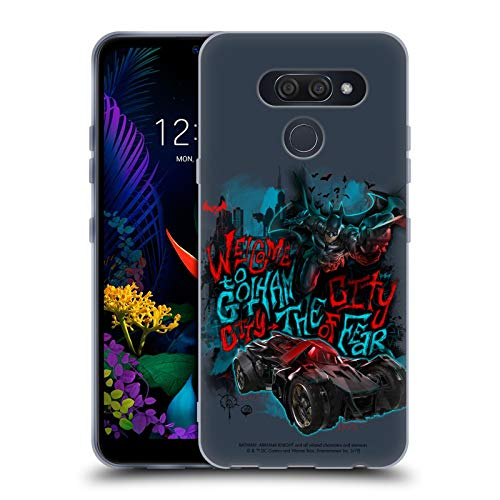 Official Batman: Arkham Knight Welcome To Gotham Graphics Soft Gel Case Compatible for LG K50