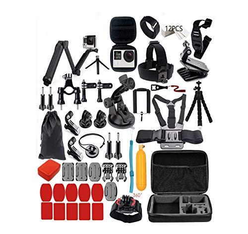 STLION Set di Accessori per Gopro Hero 5 4 3+ 3 2 1 e Kit di Montaggio Kit per Videocamere di Azione Tre Modo Bastone Selfie per SJCAM SJ4000 / Xiaomi Yi Fotocamera 4K Lightdow WiMiUS DBPOWER