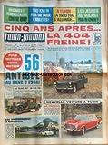 AUTO JOURNAL (L') [No 363] du 12/11/1964 - 5 ANS APRES LA 404 FREINE -...