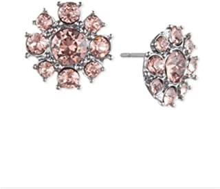 Givenchy Crystal Cluster Button Stud Earrings