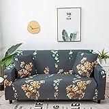 WXQY Fundas con Estampado Floral Funda de sofá elástica elástica Funda de sofá con protección para Mascotas Funda de sofá con Todo Incluido en Forma de L A20 1 Plaza