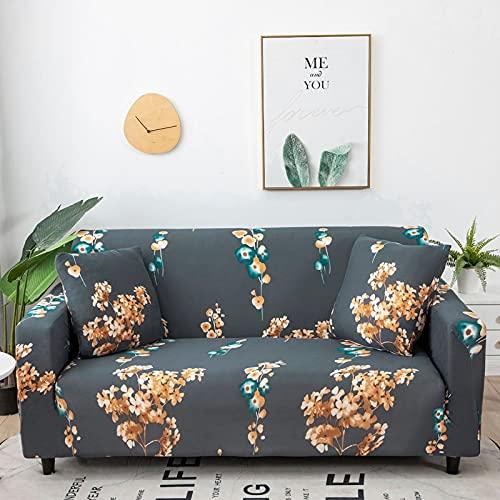 WXQY Fundas con Estampado Floral Funda de sofá elástica elástica Funda de sofá con protección para Mascotas Funda de sofá con Todo Incluido en Forma de L A20 2 plazas