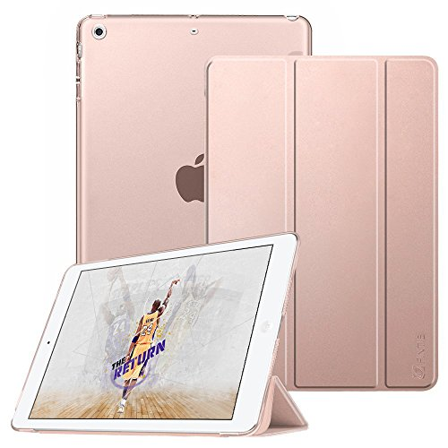 FINTIE Case for iPad Mini 3/2 / 1 - Super Thin Lightweight SlimShell Case Translucent Frosted Back Cover Protector Supports Auto Wake/Sleep for Apple iPad Mini 1 / Mini 2 / Mini 3, Rose Gold