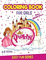 PRINCESS Coloring Book for Girls Ages 4-8: With Unicorn coloring pages