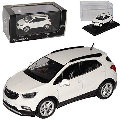 Kyosho Opel Mokka X SUV Weiss Modell Ab 2012 Ab Facelift 2016 1/43 i-Scale Modell Auto mit individiuellem Wunschkennzeichen
